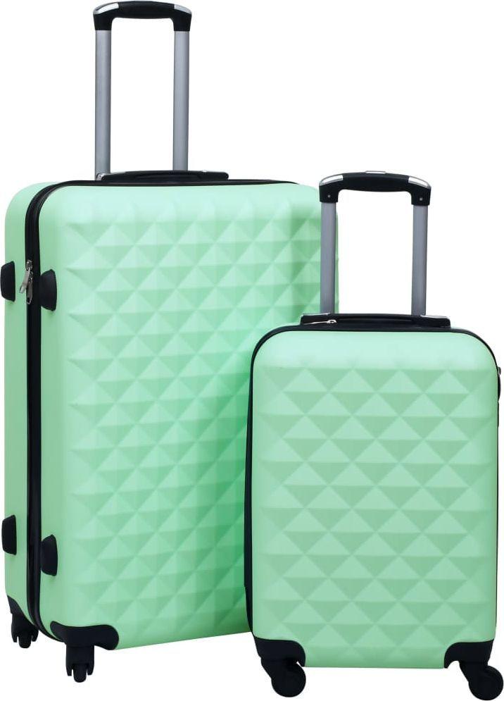 vidaXL Zestaw twardych walizek na kółkach, 2 szt., miętowy, ABS 1
