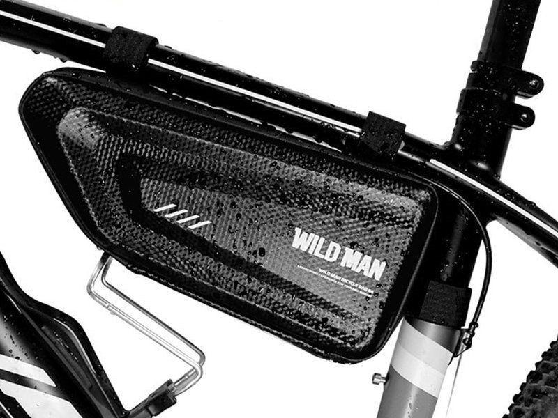 WildMan Etui torba sakwa na rower uchwyt rowerowy Wildman Bag E4 1.5l Czarny uniwersalny 1