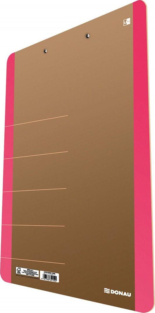Donau Clipboard DONAU Life, karton, A4, z klipsem, różowy 1