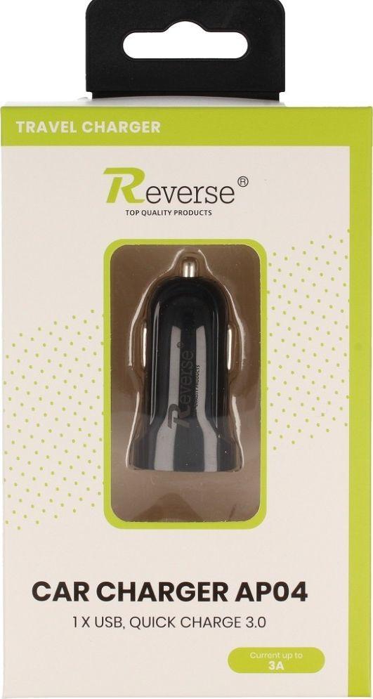 Ładowarka Reverse Ładowarka samochodowa Reverse QC 3A 1XUSB AP04 czarna 1