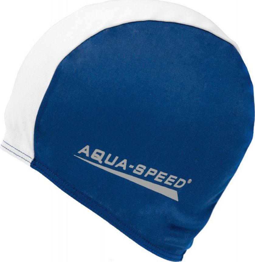 Aqua-Speed Czepek Aqua-Speed Polyester Cap niebiesko biały 15 091 1
