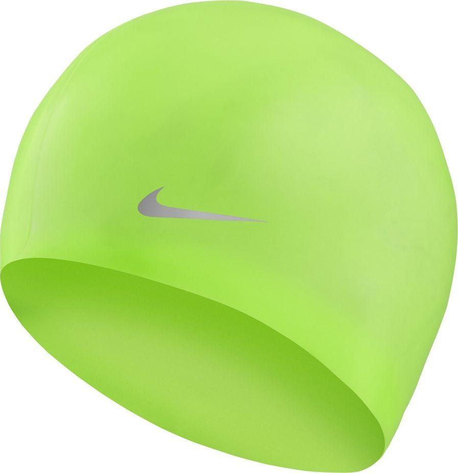 Nike Czepek pływacki Nike Os Solid Junior zielony TESS0106-370 1