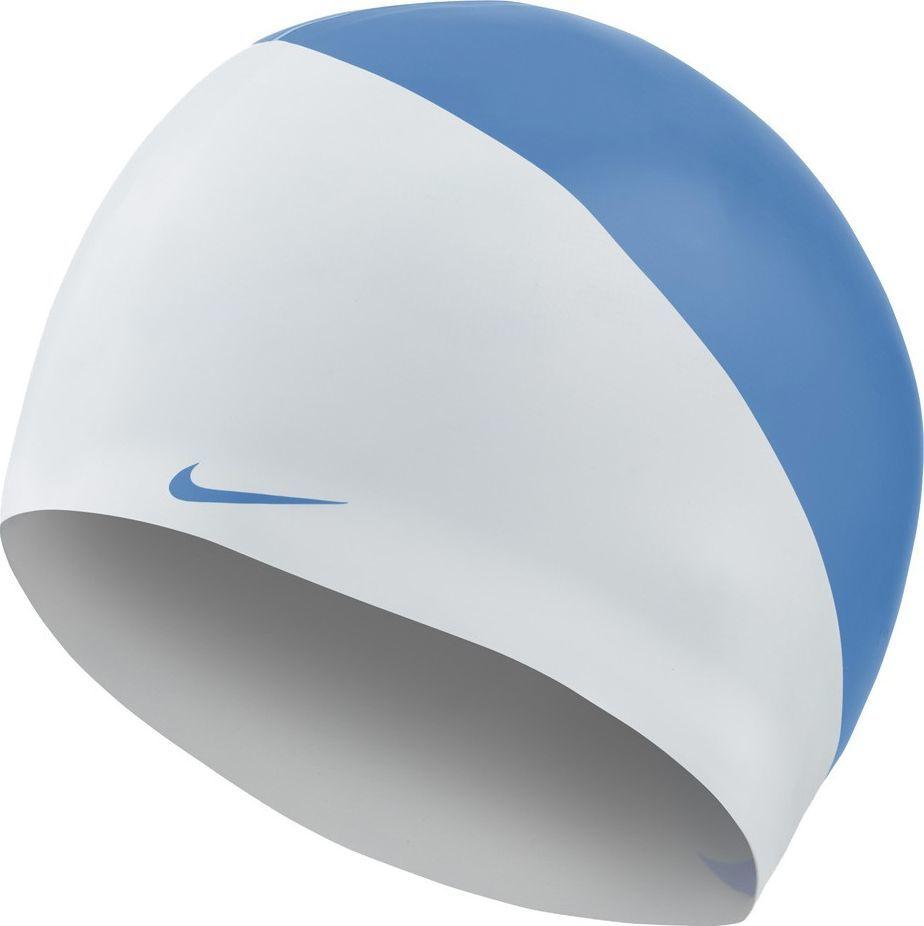 Nike Czepek pływacki Nike Os Slogan biało-niebieski NESS9164-458 1