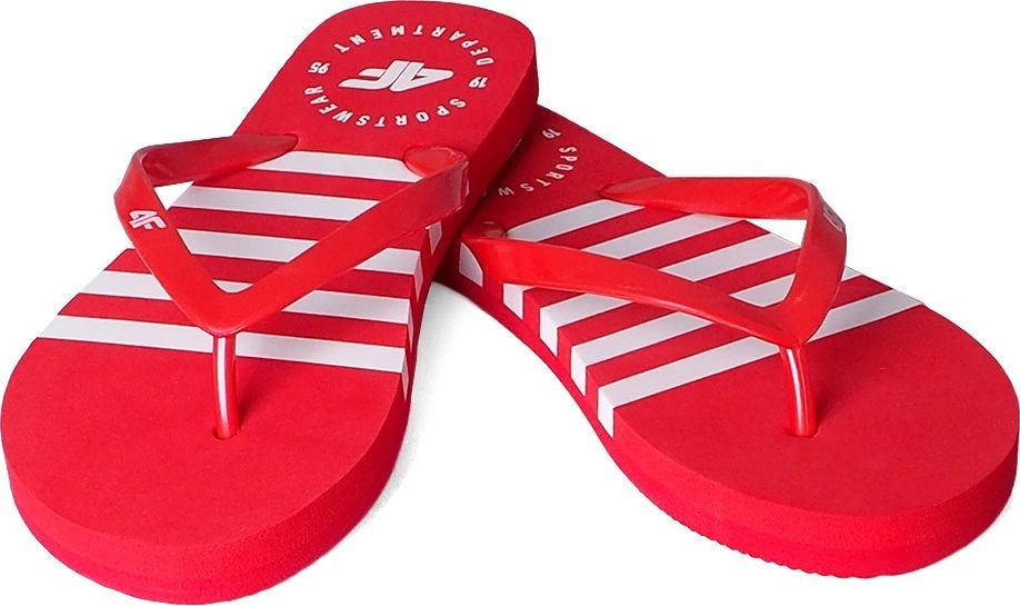 4f Klapki damskie 4F czerwone H4L20 KLD004 62S 1