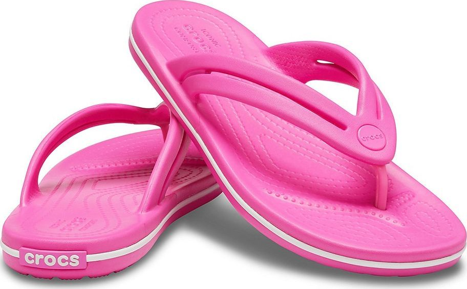 Crocs Crocs klapki damskie Crocband Flip W różowe 206100 6QQ 1
