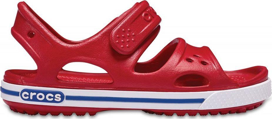 Crocs Crocs sandały dla dzieci Crocband II Sandal PS Kids czerwono-niebieskie 14854 6OE 1