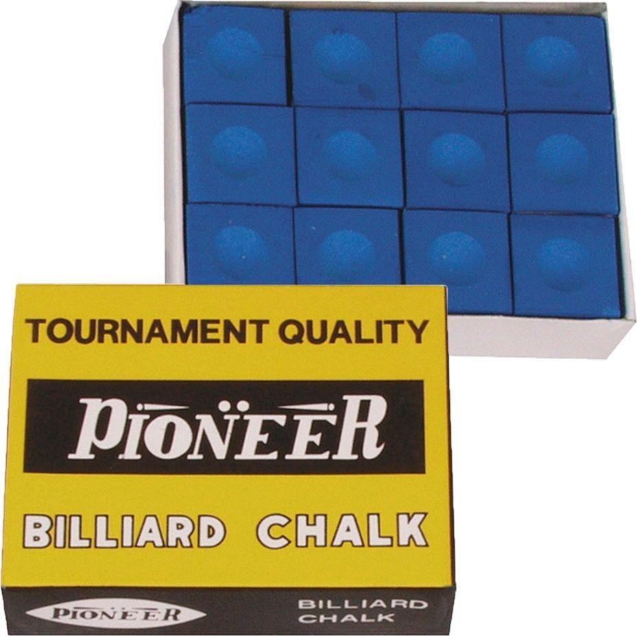Kreda do bilarda Pioneer niebieska 12 szt 1