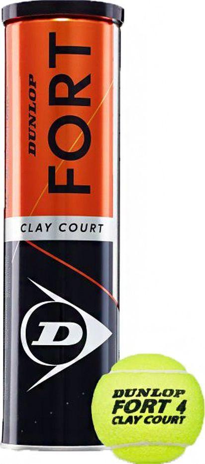 Dunlop Piłki do tenisa ziemnego Dunlop Fort Clay Court 4szt 1