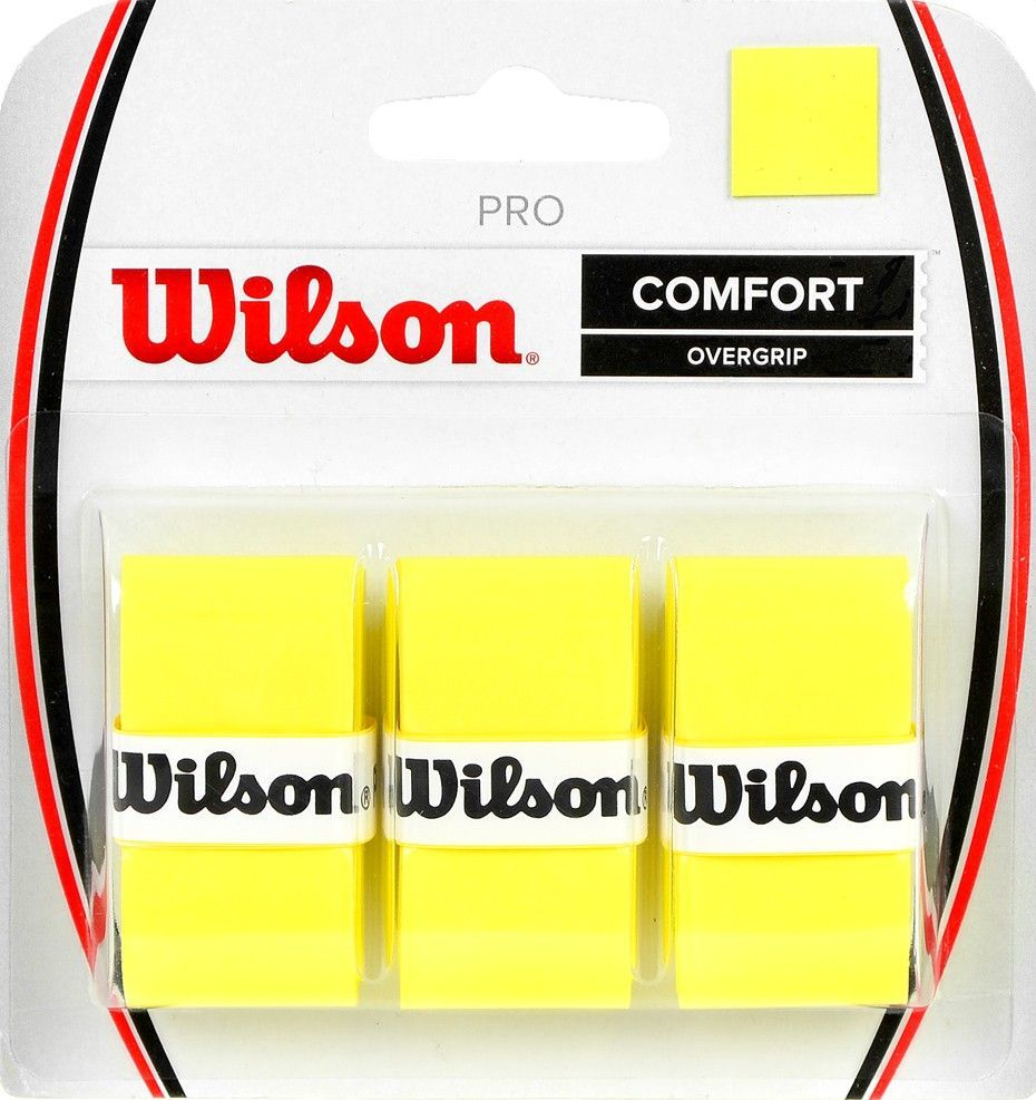 Wilson Owijka Wilson Pro Comfort Overgrip żółta 3szt WRZ4014YE 1