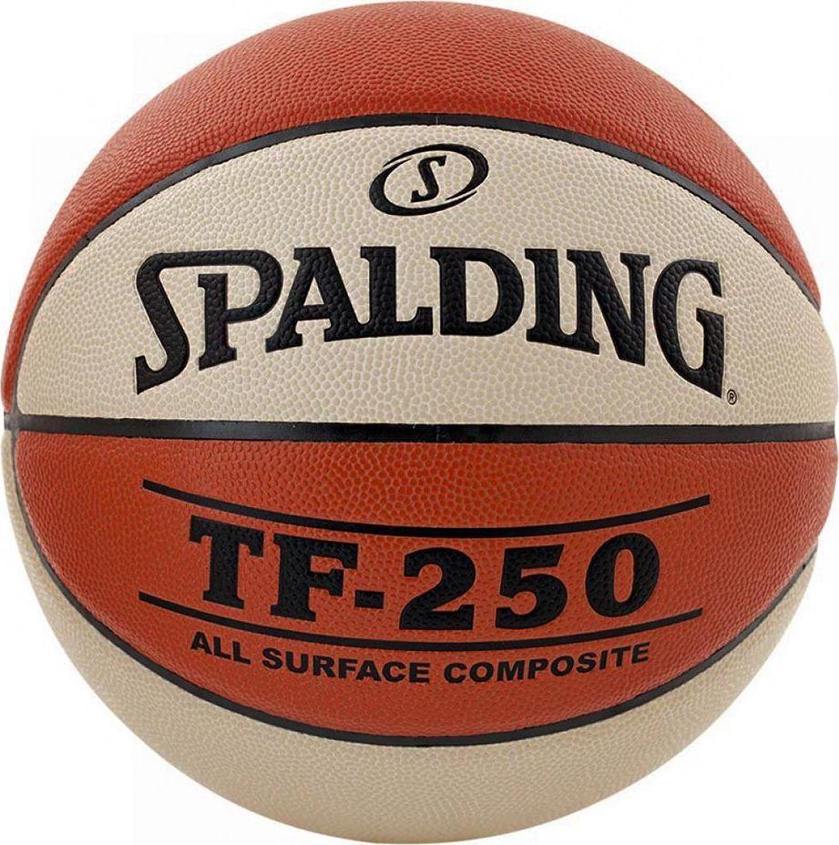 Spalding Piłka koszykowa Spalding NBA TF-250 Indoor/Outdoor two Tone pomarańczowo-biała 1