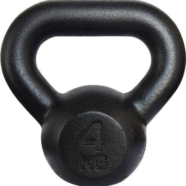 KAWMET Kettlebell żeliwny 4kg czarny 1
