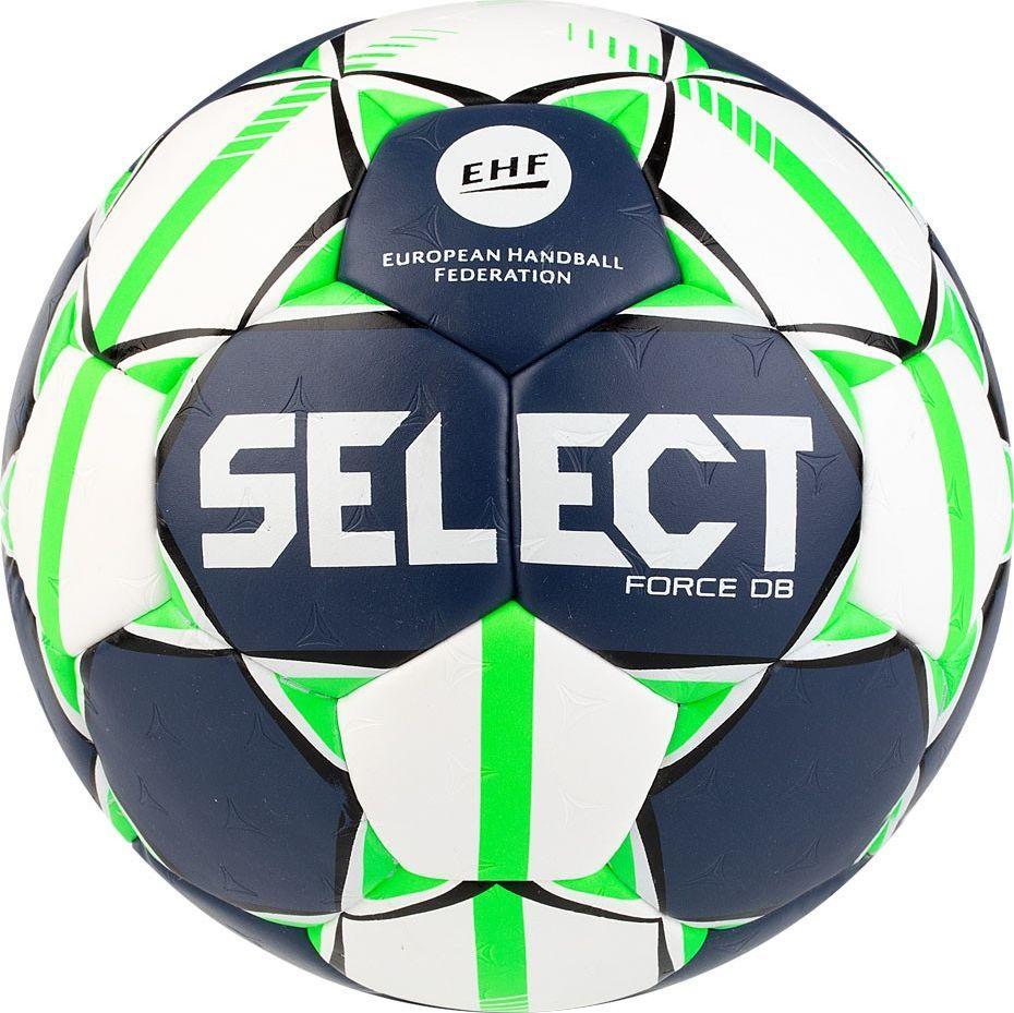 Select Piłka ręczna Select Force DB Senior 3 EHF 2019 biało-granatowo-zielona 16158 1