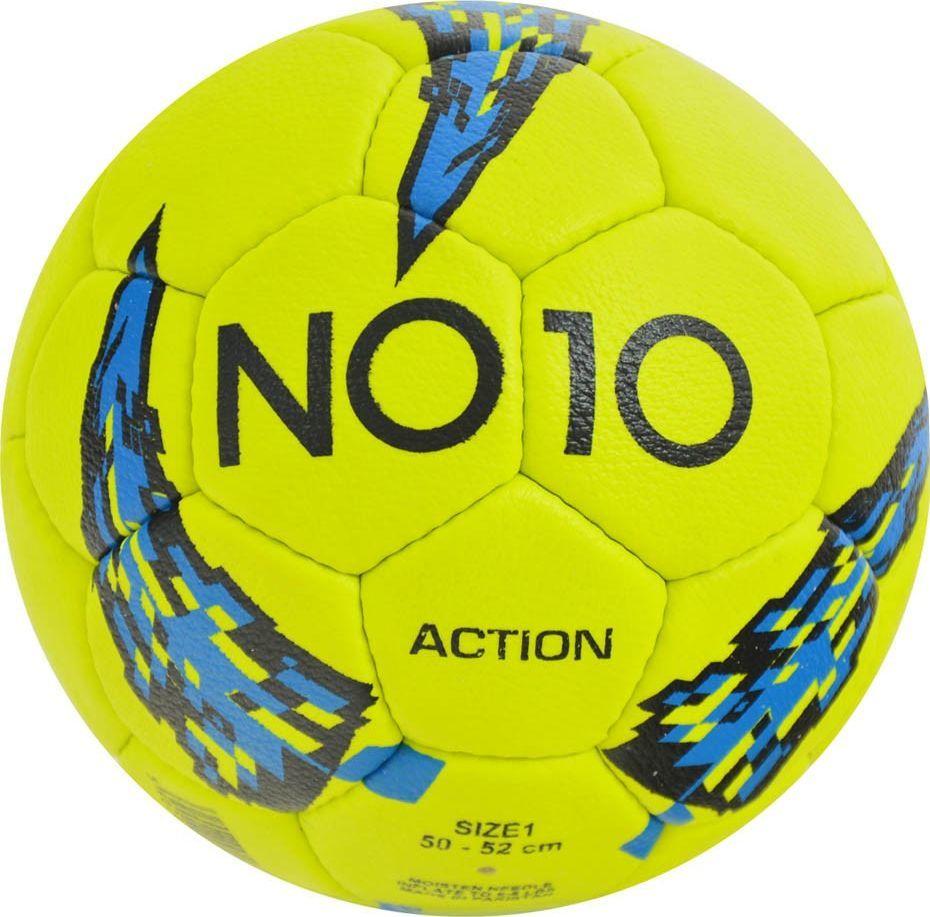 NO10 Piłka ręczna NO10 Action Junior roz 1 żółto-niebiesko-czarna 1