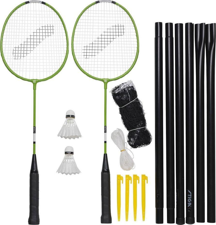 Stiga Zestaw do Badmintona Stiga Garden GS Set 2 rakiety 2 lotki siatka ze słupkami 1