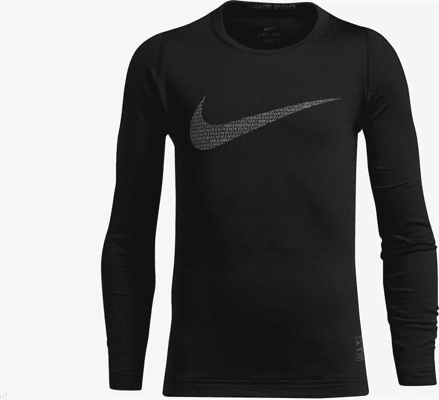 Nike Czarna koszulka Nike Termo AH0252-010 JR 128 1