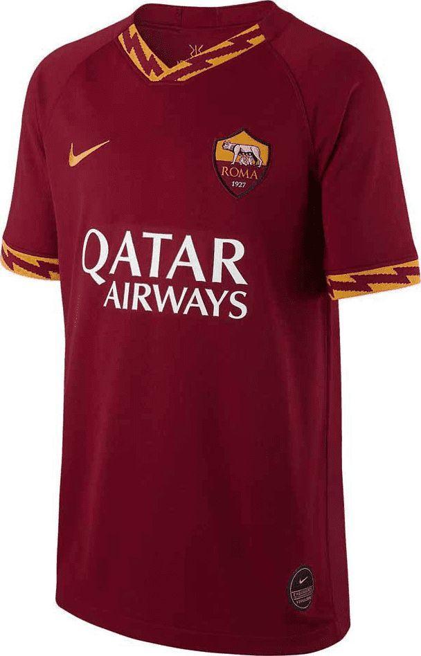Nike Czerwona koszulka Nike AS ROMA Breathe Stadium AJ5823-613 JR 140 1