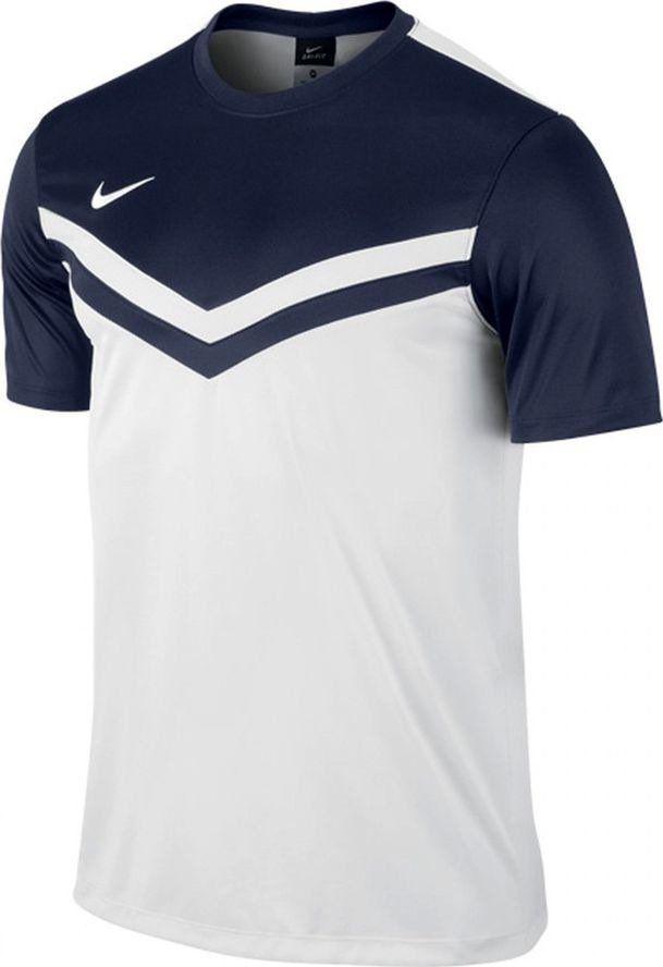 Nike Koszulka piłkarska Nike Victory II junior 588430-100 biało-granatowa 140 1