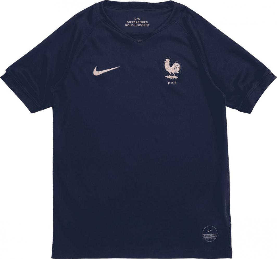 Nike Koszulka piłkarska Nike FFF Stadium Home junior AJ4444-410 granatowa 128 1