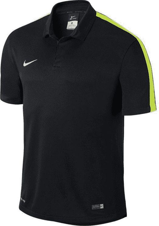 Nike Koszulka Nike polo Squad Sideline junior 646405-011 czarno-żółta 140 1