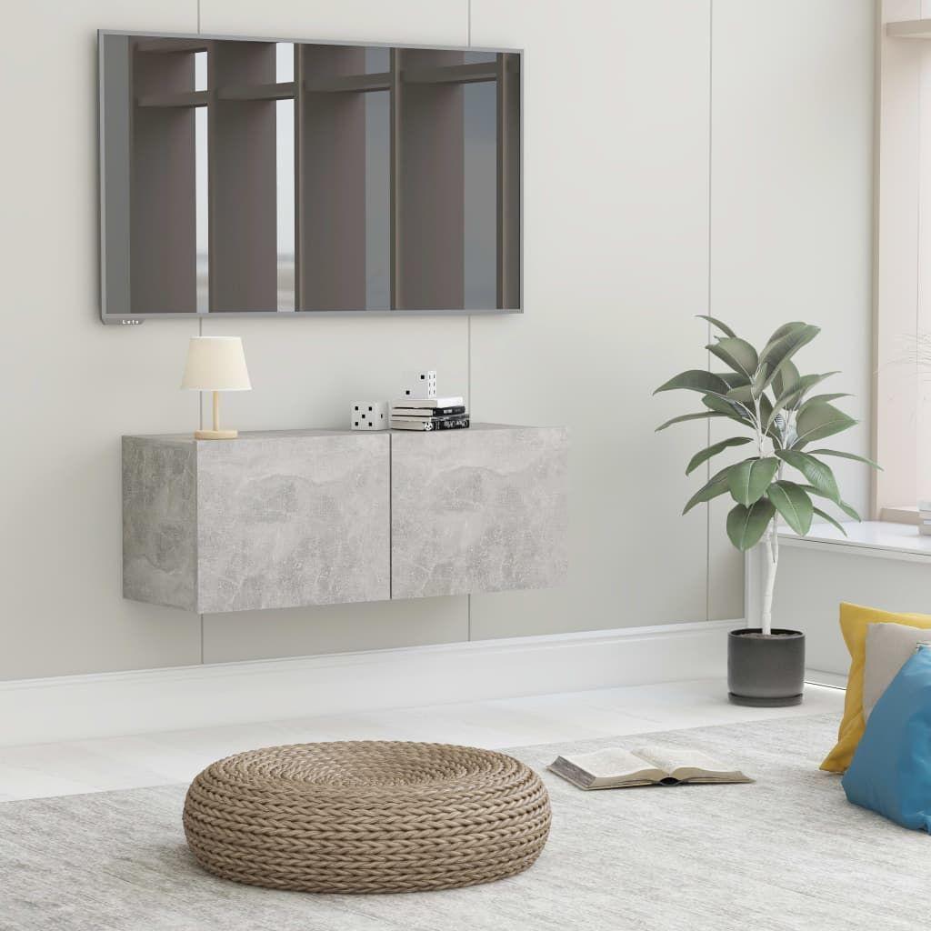 vidaXL Szafka pod TV, szarość betonu, 80x30x30 cm, płyta wiórowa 1