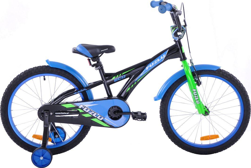 Fuzlu Rower dziecięcy 20 Eco czarno-niebieski  1