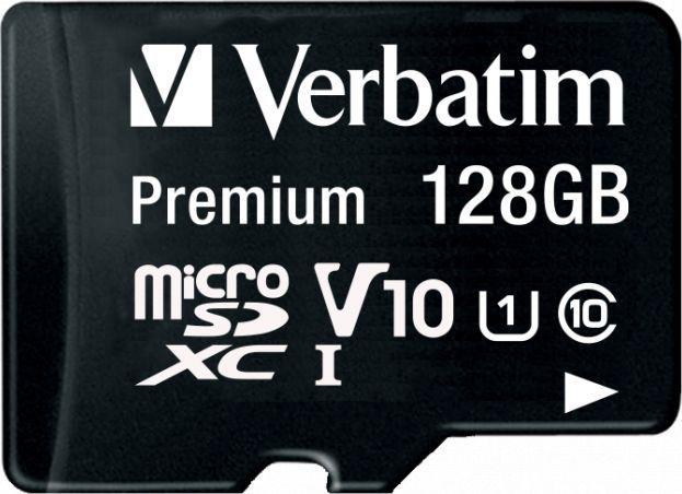 Karta Verbatim Premium MicroSDXC 128 GB Class 10 U1 V10 (44085) 1