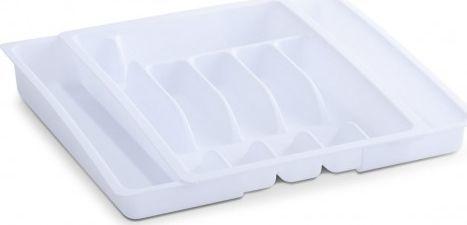 Zeller Organizer do szuflady na sztućce, biały 1