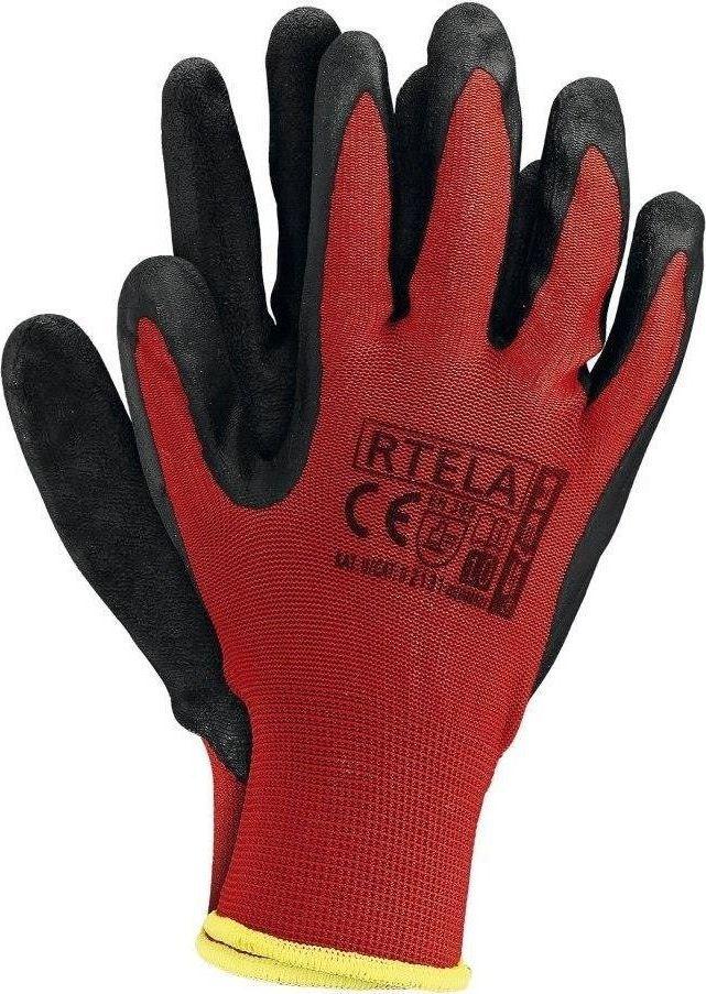 Upominkarnia Rękawice ochronne nylonowe czerwone (RTELAC7) /12/ UPOMINKARNIA uniwersalny 1