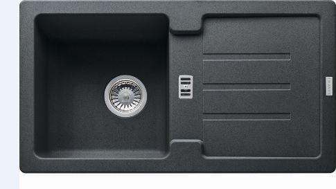 Franke Zlewozmywak 1-komorowy SAG 614 z ociekaczem 78 x 43,5cm onyx (114.0320.329) 1