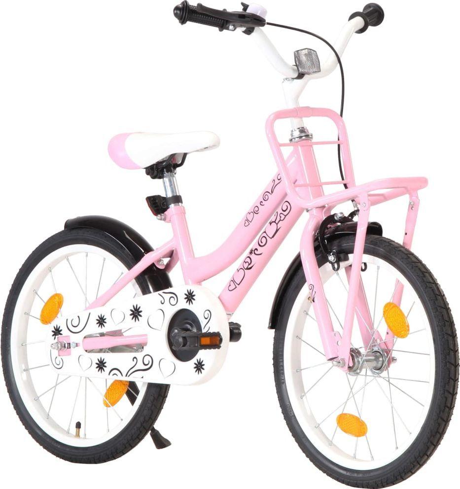 """vidaXL Rower dziecięcy 18"""" różowy 1"""