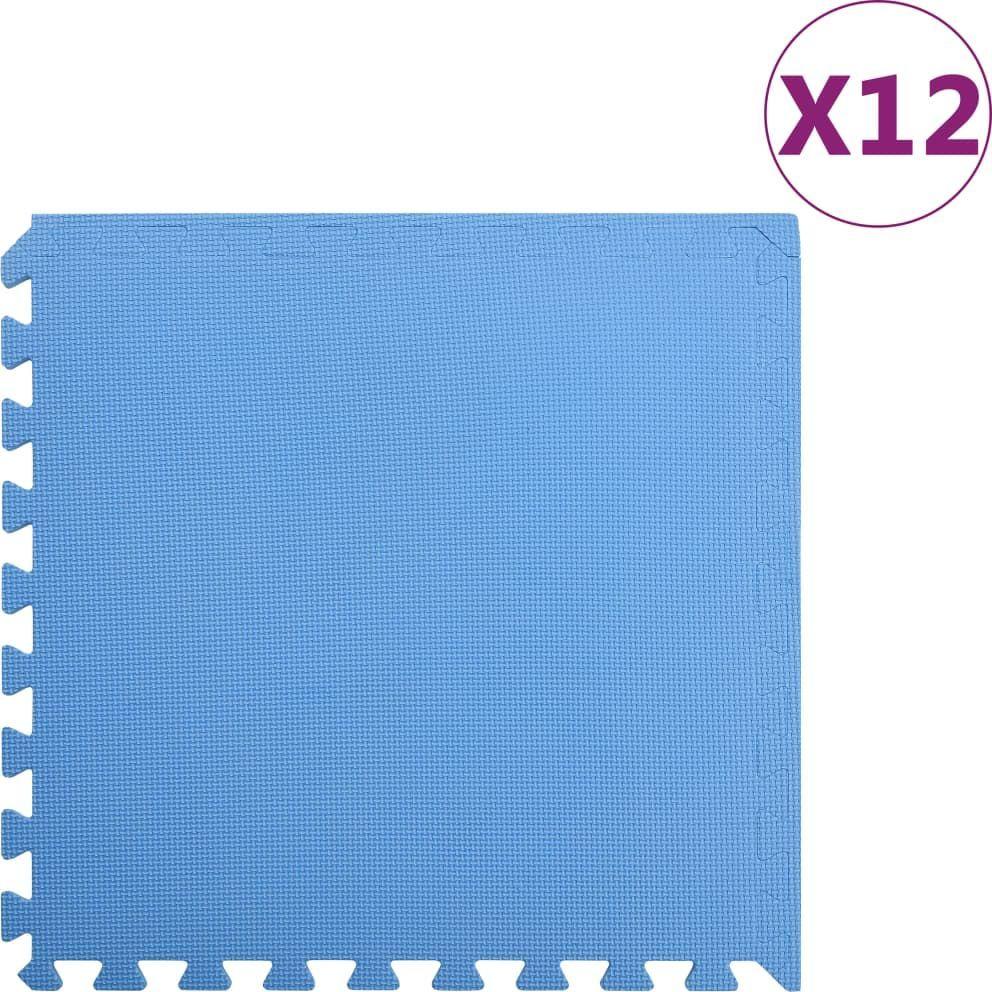vidaXL Maty podłogowe, 12 szt., 4,32 , pianka EVA, niebieskie 1