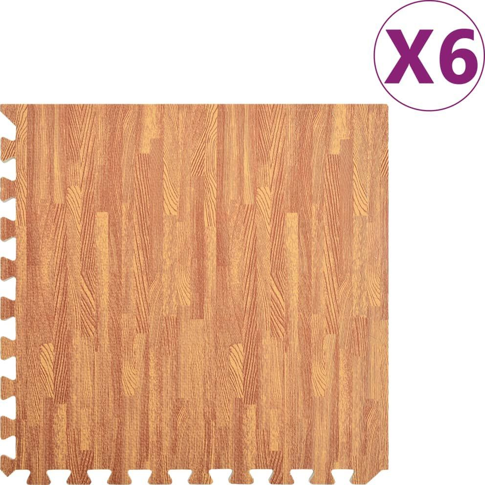 vidaXL Maty podłogowe, 6 szt., wzór drewna, 2,16 , pianka EVA 1