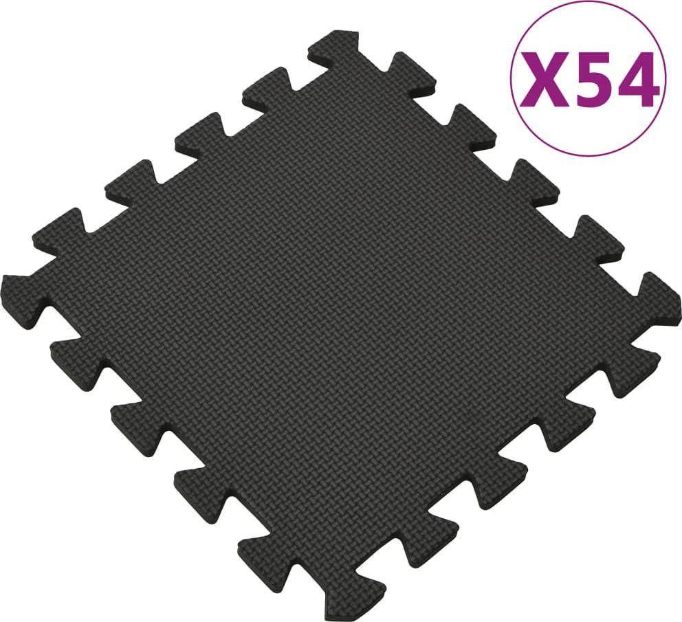 vidaXL Maty podłogowe, 54 szt., 4,86, pianka EVA, czarne 1