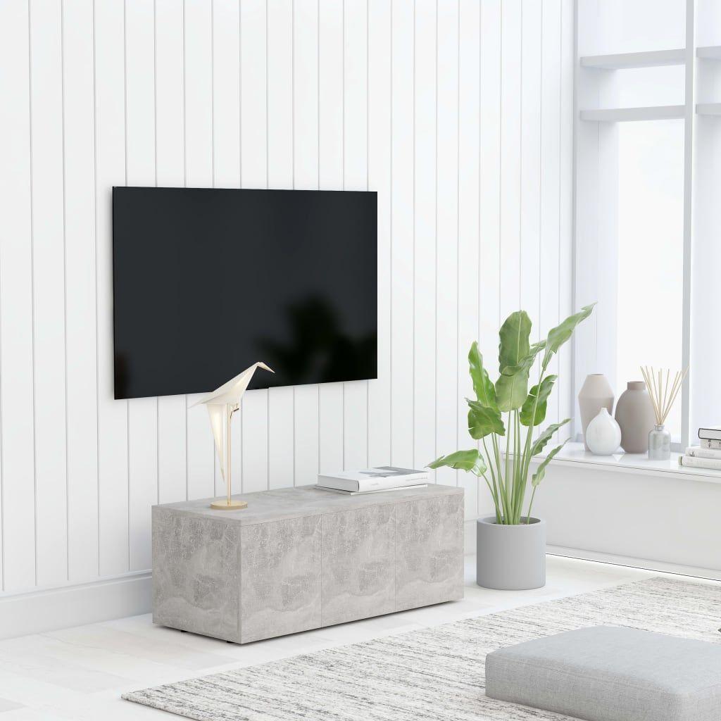 vidaXL Szafka pod TV, szarość betonu, 80x34x30 cm, płyta wiórowa 1