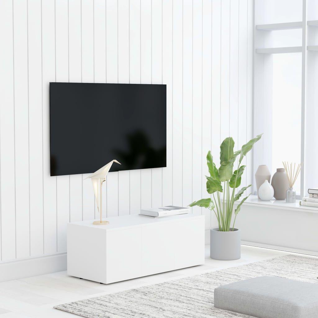 vidaXL Szafka pod telewizor, biała, 80x34x30 cm, płyta wiórowa 1