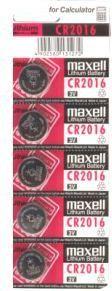 Maxell Bateria CR2016 5szt. 1