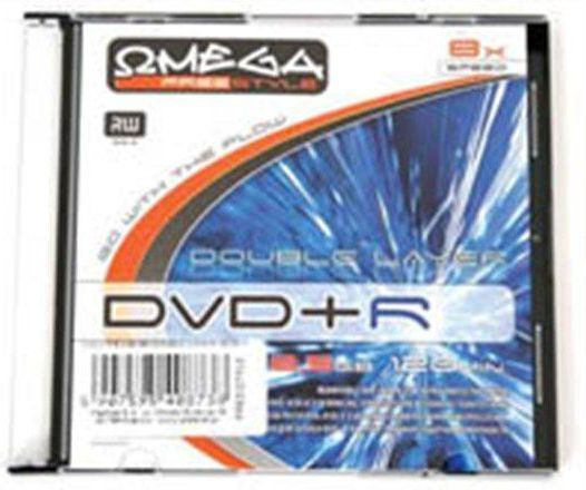 Omega FREESTYLE DVD+R 8,5GB 8X DOUBLE LAYER SLIM*1 (40873) 1