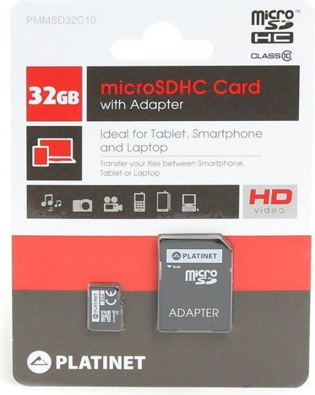 Karta Platinet MicroSDHC 32 GB Class 10  (41843) 1