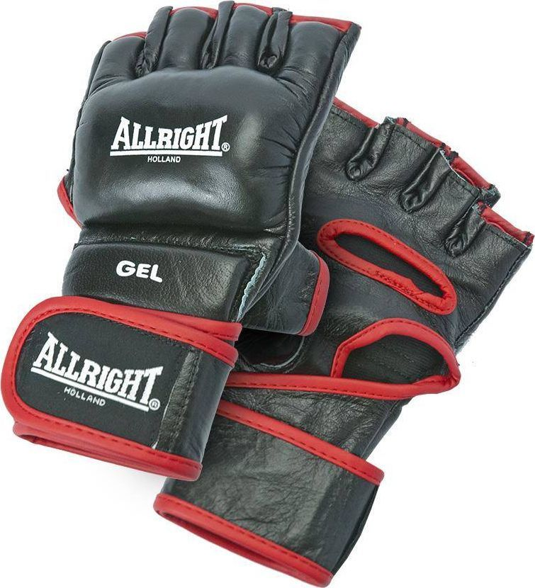 Allright RĘKAWICE MMA PRO PU r.M czarne 1