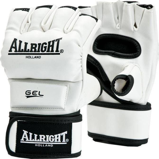 Allright RĘKAWICE MMA PRO SKÓRA r.XL białe 1