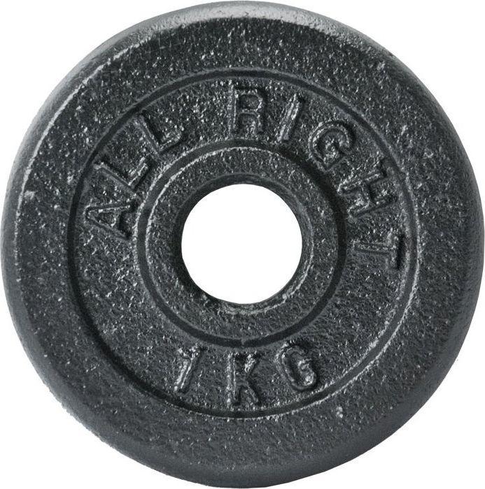 Allright Obciążenie Czarne 1kg 1
