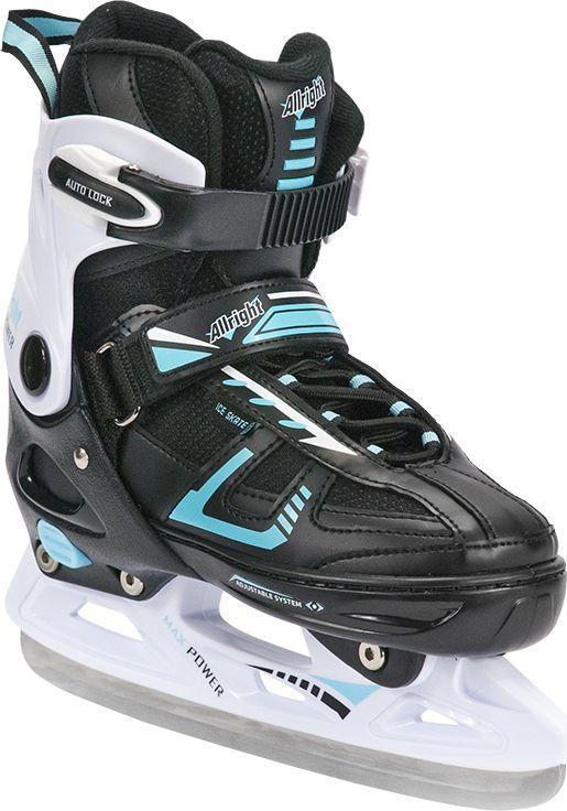 Allright Łyżwy hokejowe 2w1 Max Power czarno-białe r. 33-36 (SKŁHMSMP36) 1