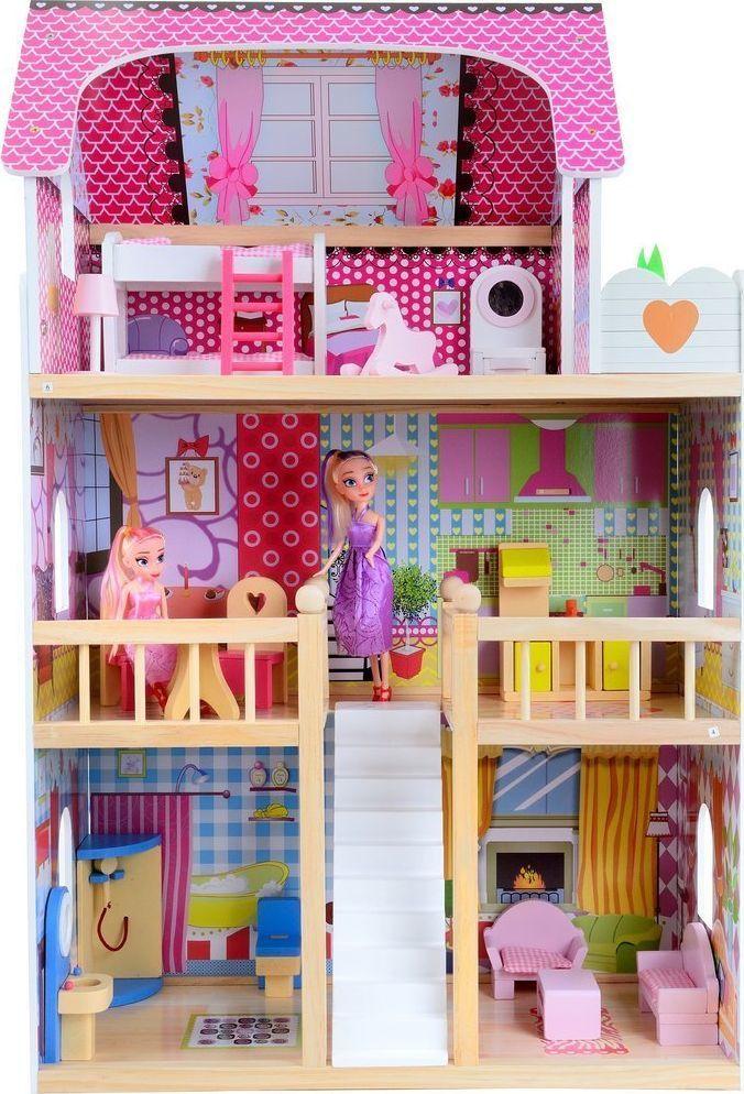Funfit Drewniany domek dla lalek + 2 lalki (1981) 1