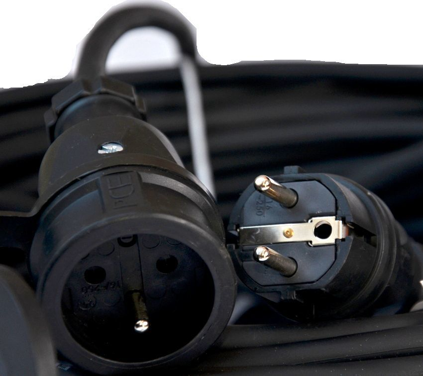 Hilark przedłużacz gumowy budowlany H07RN-F 3g1,5 30m wtyczka gniazdo (918301059a/30/M) 1