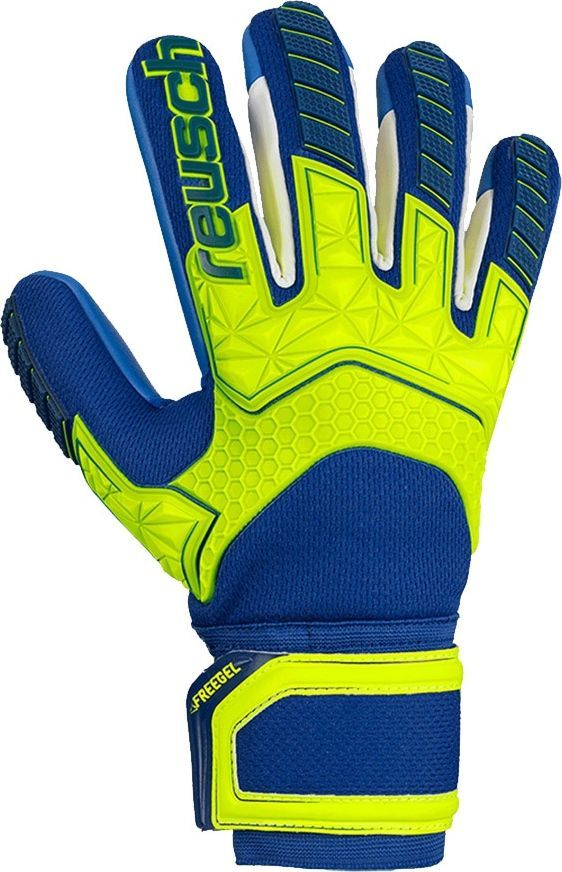 Reusch Rękawice bramkarskie Reusch Attrakt Freegel S1 Finger Support LTD 50 70 261 2199 50 70 261 2199 niebieski 7,5 1