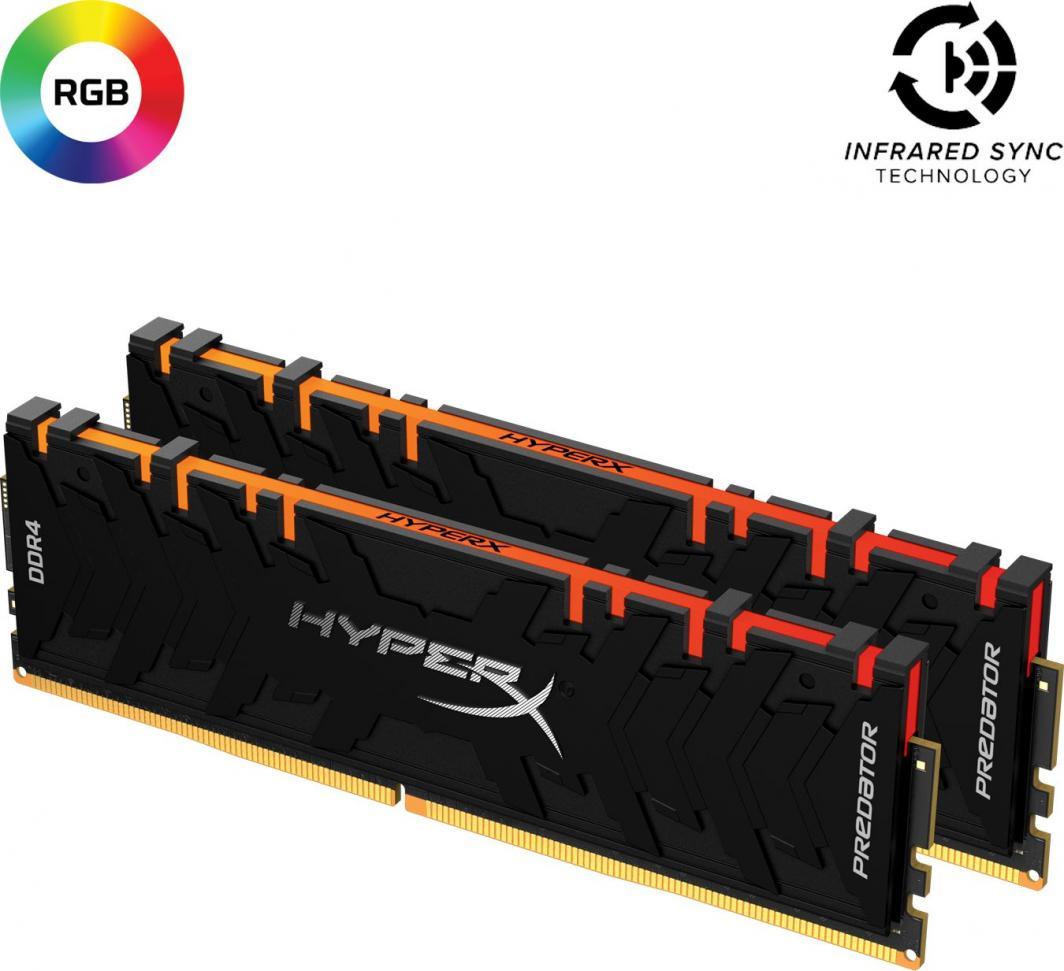 Pamięć HyperX Predator RGB, DDR4, 64 GB, 3600MHz, CL18 (HX436C18PB3AK2/64) 1