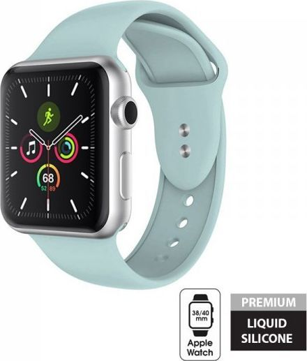 Crong Crong Liquid Band - Pasek do Apple Watch 38/40 mm (miętowy) 1