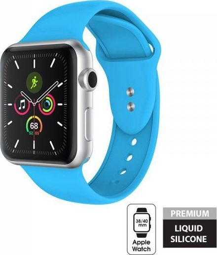 Crong Crong Liquid Band - Pasek do Apple Watch 38/40 mm (niebieski) 1