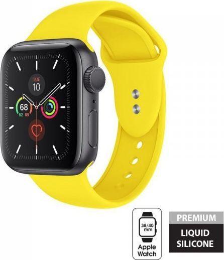 Crong Crong Liquid Band - Pasek do Apple Watch 38/40 mm (żółty) 1
