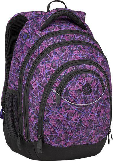 BAGMASTER Plecak szkolny trzykomorowy Energy 9 D violet/black 1